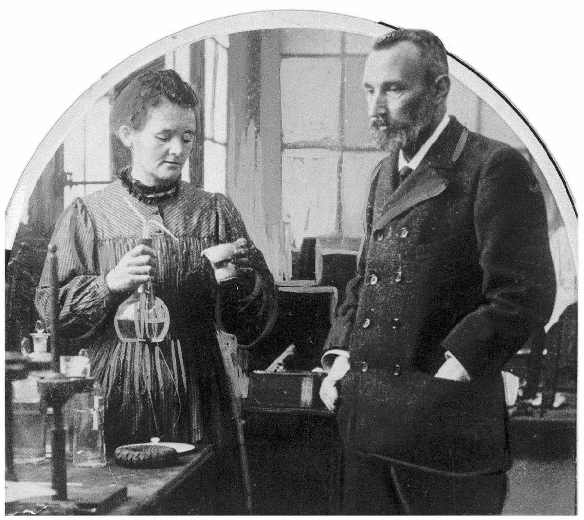 Мария Кюри и Пьер Кюри
