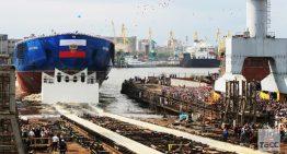 Самый мощный в мире ледокол «Арктика» спущен на воду в Санкт-Петербурге