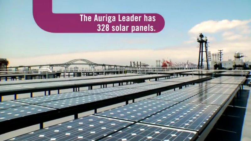 Солнечные батареи на борту «Auriga Leader», Фото: ic.pics.livejournal.com