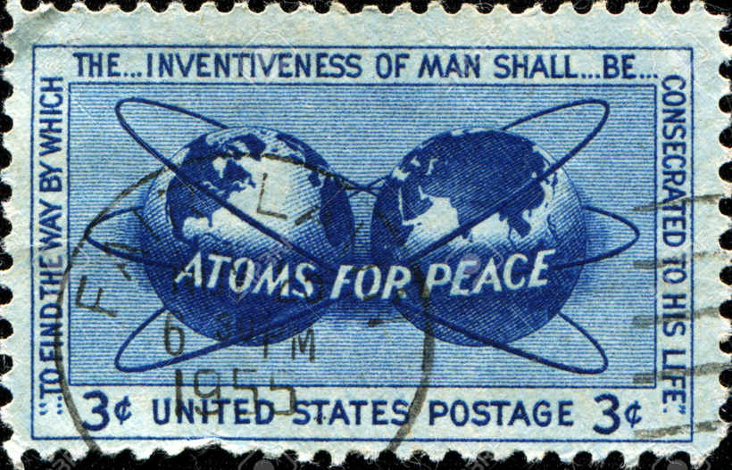 Американская почтовая марка, 1955 год