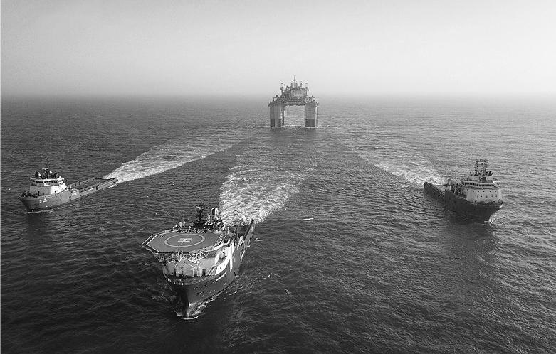 Китай начал монтаж буровой платформы массой 100 тыс. тонн в акватории Хайнаня