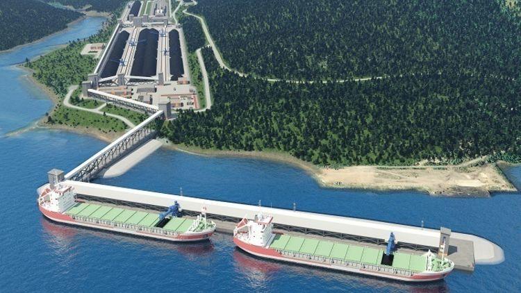 Порт Лавна законтрактовал мощности строящегося угольного терминала до 2043 года