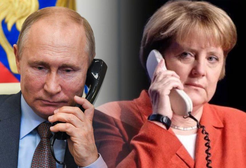 Путин обсудил с Меркель договоренности США и Германии по «Северному потоку — 2»