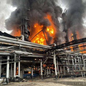 "Последствия пожара на заводе ""Газпрома"""