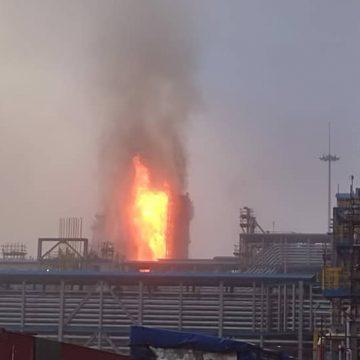 На Амурском ГПЗ остановили переработку природного газа после возгорания на установке